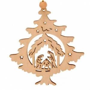Ornement Noël sapin avec Nativité s1