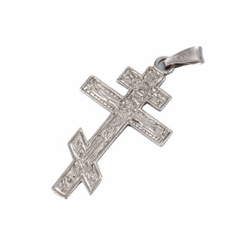 Orthodox crucifix in silver 800 s1