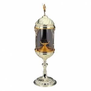 Ostensorio ambrosiano cilindrico ottone argentato s1