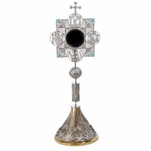 Relicario con cruz, filigrana plata 800 s1