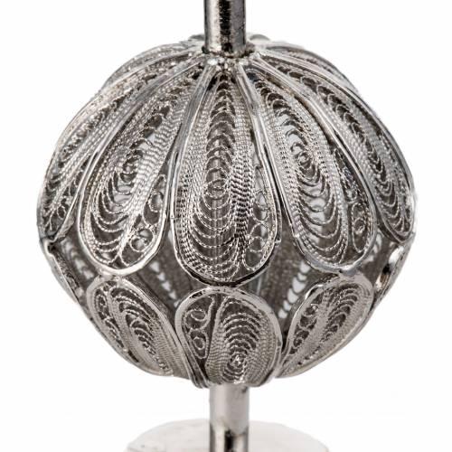 Relicario con cruz, filigrana plata 800 s4