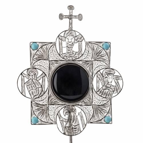 Relicario con cruz, filigrana plata 800 s5
