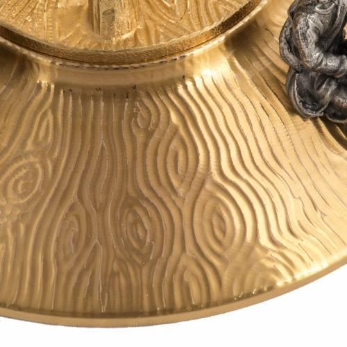 Ostensorio en bronce dorado con ángeles 60cm alto s8