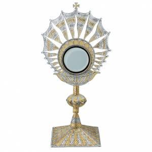 Ostensorio filigrana argento 800 lunetta estraibile s1