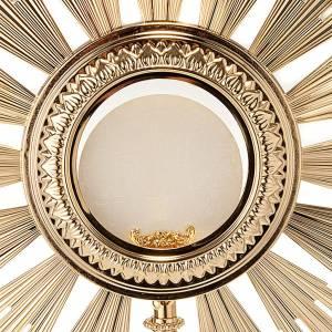 Ostensori, Teche, Reliquiari metallo: Ostensorio barocco bronzo dorato