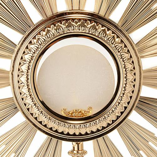 Ostensorio barocco bronzo dorato s4