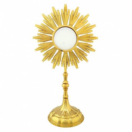 Ostensorio per Ostia Magna ottone dorato h 69 cm s1