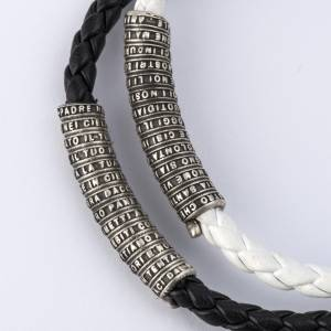 Our Father bracelet in leather s2