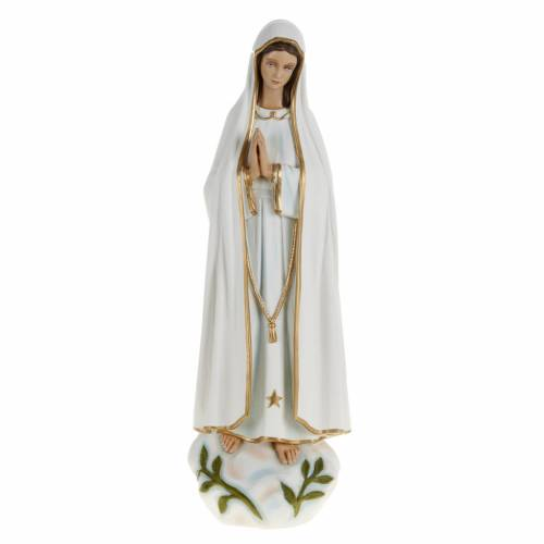 Our Lady of Fatima statue, 60cm in painted reconstituted marble s1