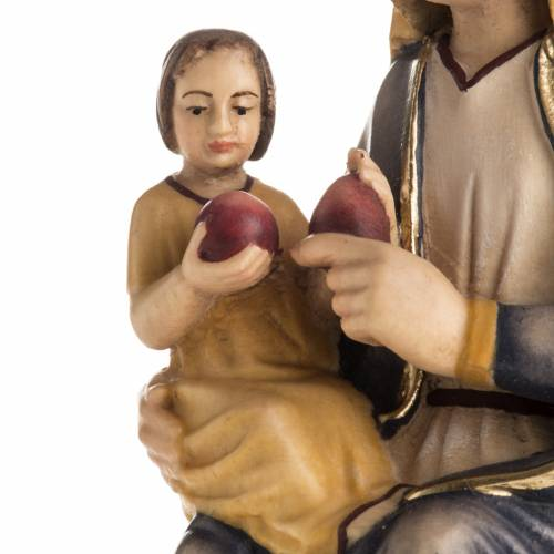 Our Lady of Mariazell seated wooden statue painted s3