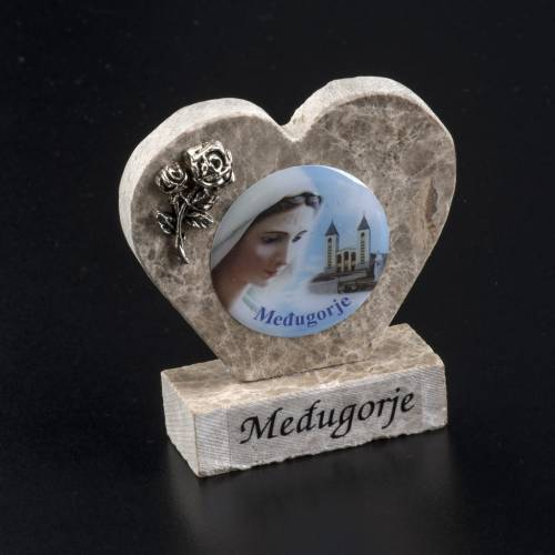 Our Lady of Medjugorje marble heart s2