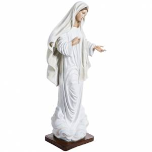 Our Lady of Medjugorje statue in painted fiberglass, 130cm s5