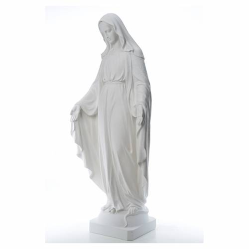 Our Lady of Miracles, 130cm in reconstituted Carrara marble s2