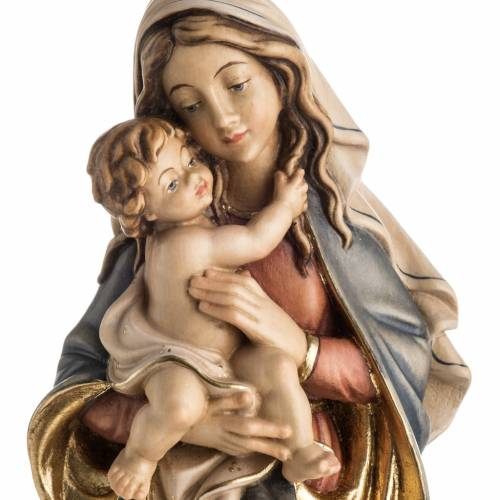 Our Lady of Peace wooden statue painted s2