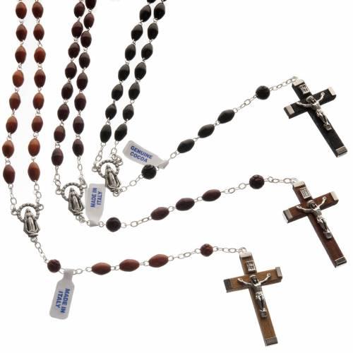 Oval bead coconut rosary s1