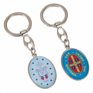 Oval keyring with images s2