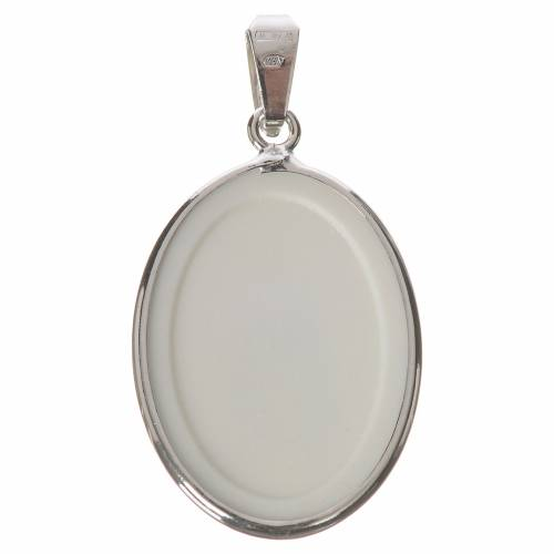 Oval medal in silver, 27mm Miraculous Medal s2