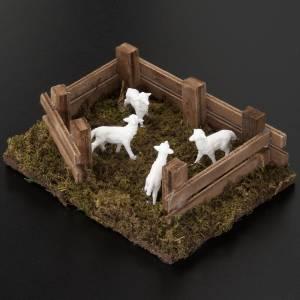 Zwierzęta do szopki: Owce w zagrodzie 12x16 cm szopka zrób to sam 10 cm