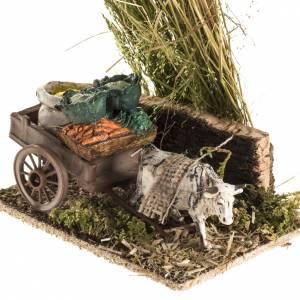 Ox with sacks cart, nativity setting s3