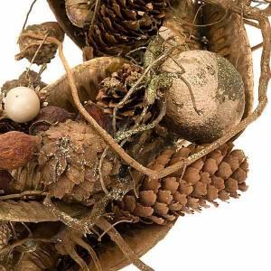Dekoracje bożonarodzeniowe do domu: Ozdoba bożonarodzeniowa korona drzewo złota