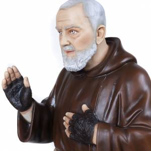 Padre Pio of Petralcina statue, 110 cm in painted marble dust s3