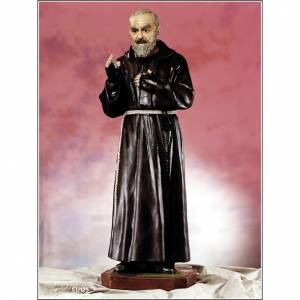 Fiberglass statues: Padre Pio of Pietralcina statue in fiberglass, 125 cm by Landi