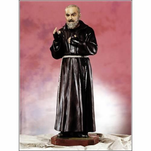 Padre Pio of Pietralcina statue in fiberglass, 125 cm by Landi s1