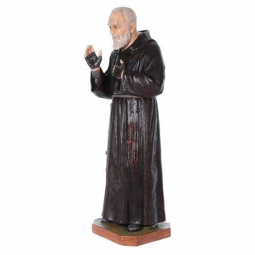 Padre Pio of Pietralcina statue in fiberglass, 175 cm by Landi s2