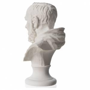 Padre Pio, reconstituted carrara marble bust, 14 cm s3