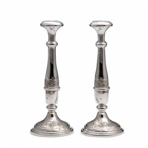 Pair of Candle holders in silver 800 s1