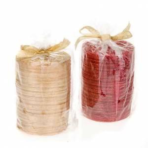 Weihnachtskerzen: Paket Wachs Glitter 10 Zentimeter