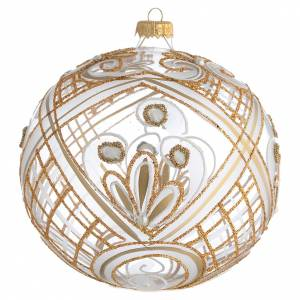Palline di Natale: Palla addobbo Natale trasparente oro 150 mm