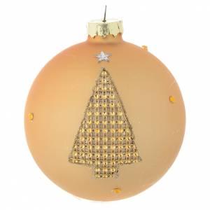 Palline di Natale: Palla Albero Natale 90 mm vetro oro strass