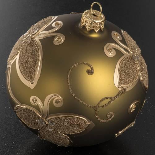 Palla Natale vetro oro decorazioni 10 cm s2