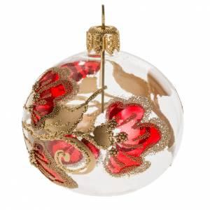Palla Natale vetro trasparente decorazioni 6 cm s1