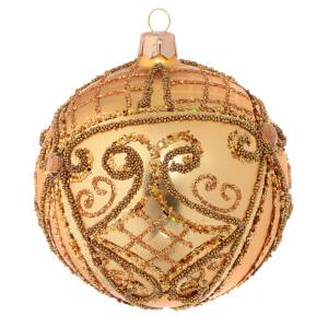 Palline di Natale: Pallina di Natale oro base opaca 100 mm
