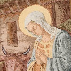 Paño de atril Natividad con cabaña - fondo oro maculado s5
