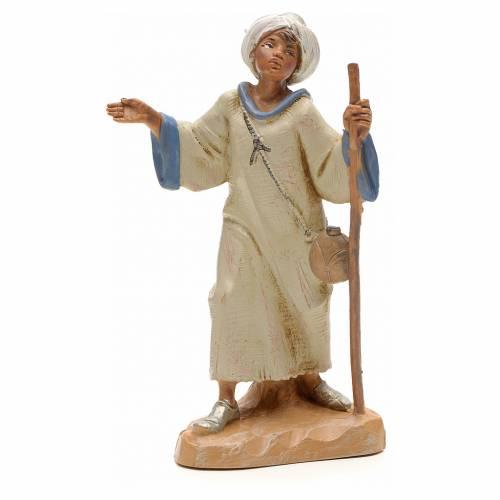Pastor árabe con bastón 12 cm Fontanini s1