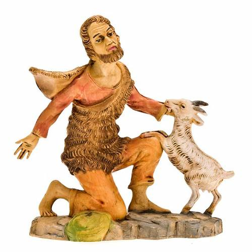 Pastor arrodillado con oveja 18 cm s1