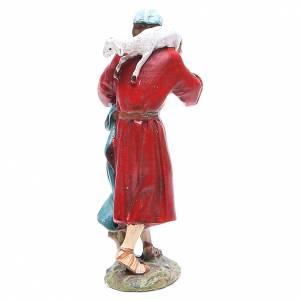 Pastor con oveja en la cabeza 10 cm Linea Masrtino Landi s2