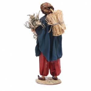 Pastore con paglia 18 cm presepe Angela Tripi s3