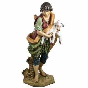 Statue per presepi: Pastore con pecora 125 cm presepe Fontanini