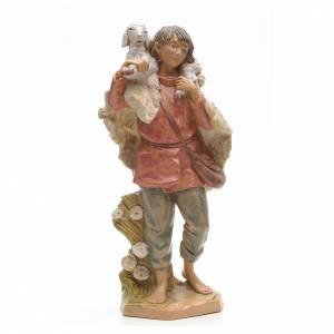 Statue per presepi: Pastore con pecora 30 cm Fontanini