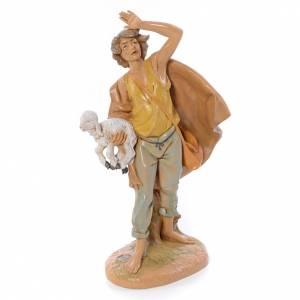 Statue per presepi: Pastore con pecora in mano 30 cm Fontanini