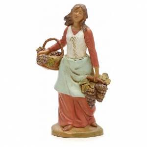 Statue per presepi: Pastorella con uva 19 cm Fontanini