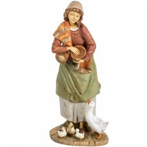 Statue per presepi: Pastorella Fontanini presepe 85 cm resina