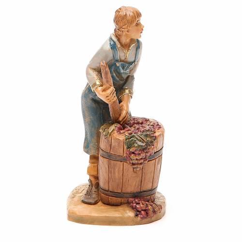 Pastorello pigia uva 12 cm presepe Fontanini s4