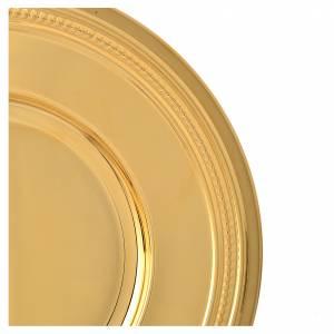 Patena ottone dorato 19 cm s4