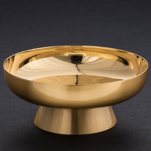 Patena ottone dorato satinato 16 cm s4
