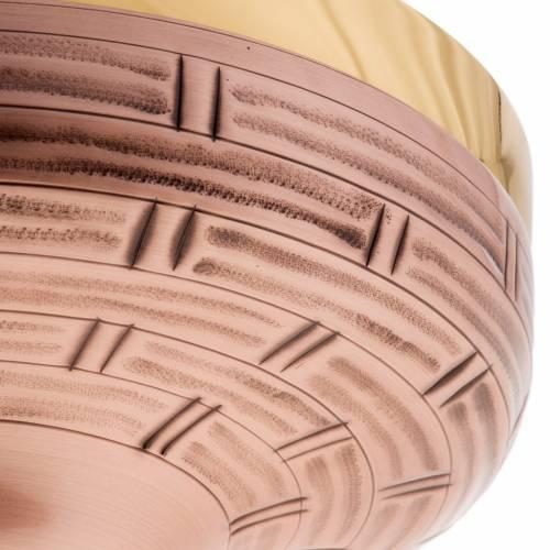 Patène laiton doré et bronze 16 cm s4